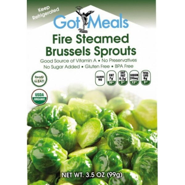 6 pouches of Fire Steamed Brussels Sprouts