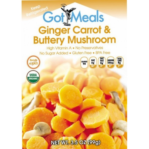 6 pouches of Ginger Carrot& Buttery Mushroom