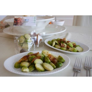 Balsamic Fire Steamed Brussels with Baco...