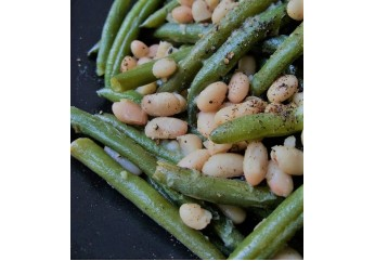 Sauté Cannellini Beans & Celery with Green beans