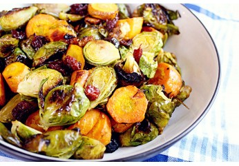 Roasted Brussels Sprouts & Carrot Salad